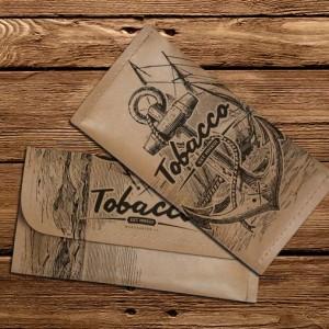 Tabaktasche - Motiv: Wooden Anchor - M13