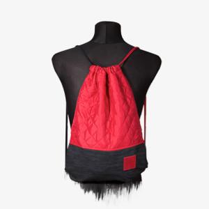 Red Denim Sports Bag
