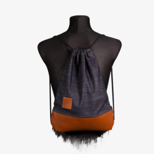 Denim Leather Sports Bag Turnbeutel