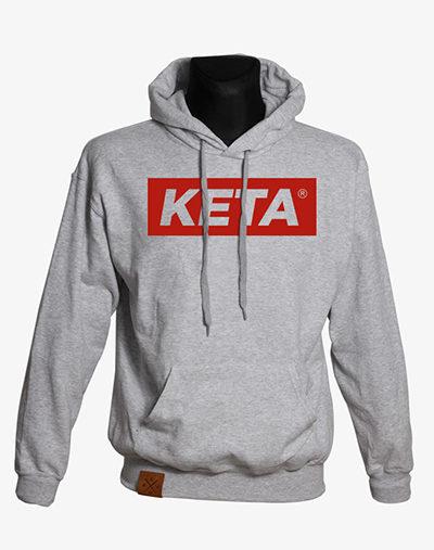 manufaktur 13 KETA Box Logo Hoodie in grau meliert