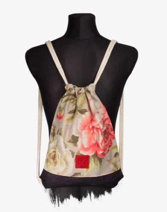 Floral Denim Sports Bag