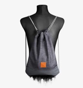 Grey Denim Sports Bag 1