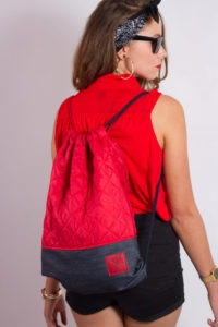 Red Denim Sports Bag 8