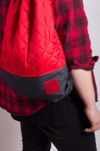 Red Denim Sports Bag 6