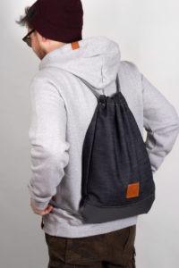 Grey Denim Sports Bag 7