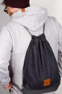 Grey Denim Sports Bag 8