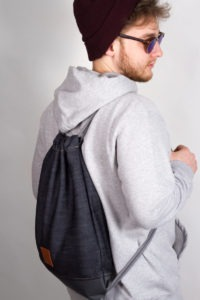 Grey Denim Sports Bag 9