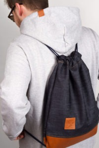 Denim Leather Sports Bag 8