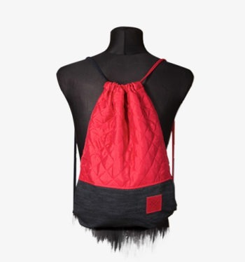 Red Denim Sports Bag