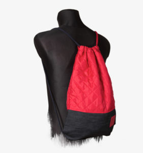 Red Denim Sports Bag 2