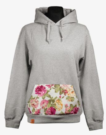 Floral Belly Hoodie