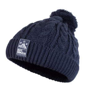 Knit Beanie (Navy) 2