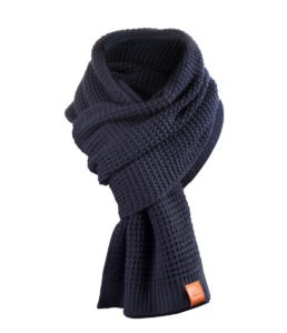 Rough Scarf (Navy) 3