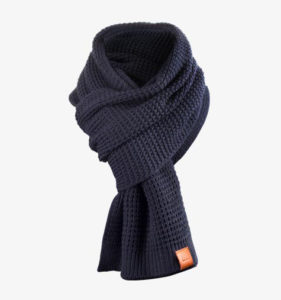 Rough Scarf (Navy) 1