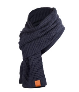 Rough Scarf (Navy) 2