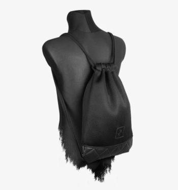 Black Mesh Sports Bag