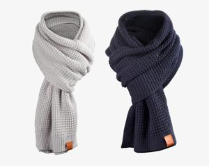 Rough Scarf (Navy) 4