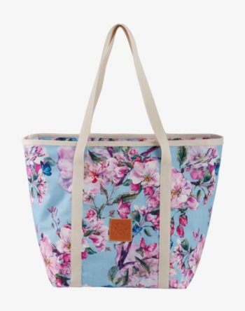 Blue Floral Shopper Bag