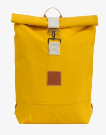 Mustard Roll-Top Rucksack Backpack