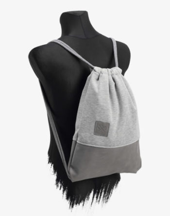 Sportbeutel / Turnbeutel Grey Leather