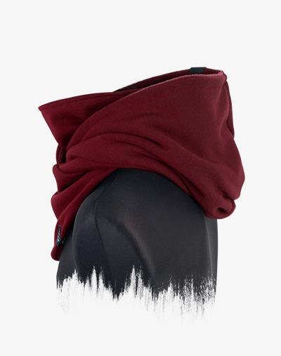 Hooded Loop / Kapuzen Schal in Weinrot / Rot / Vino