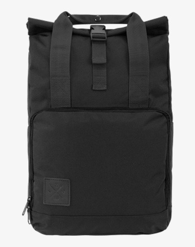 486d1e6b41b19 Roll-Top Daypack Rucksack   Fahrradrucksack (Black Out) - Manufaktur13