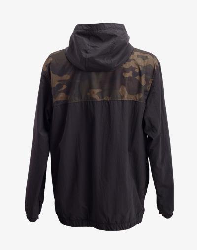 Camo (Camouflage) Mesh Windbreaker Jacke in Schwarz
