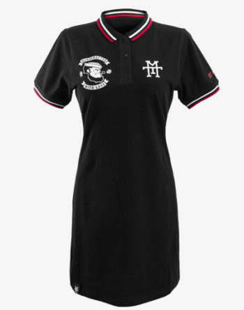 M13 Vandal Team Polo Dress (Black) Kleid mit Kragen, schwarz Damen Frauen