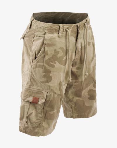 Cargo Camo Shorts / kurze Hose mit Camouflage Muster für Herren / Männer / Jungs
