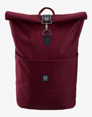 Roll-Top Rucksack / Backpack mit Rollverschluss rot weinrot burgunder vino
