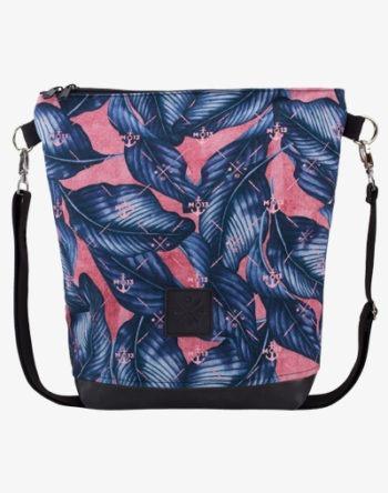 Neverfull Bag - Umhängetasche, Schultertasche mit Palmenmuster (Blue / Blau)