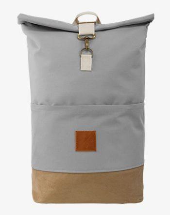 M13 RollTop - wasserdichter Roll Top Rucksack (20L), Kurierrucksack mit Innenfach, wasserabweisendes Material, verstellbare Gurte (Manufaktur13) (Canvas Wood II) (Grau)