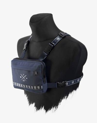 M13 Chest Rig - Brusttasche, Crossbody Umhängetasche, Brustbeutel, Reisebeutel, Geldbeutel, blau, wasserabweisend, navy