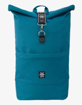 Roll-Top Backpack Rucksack Petrol Rollrucksack Daypack in türkis blau wasserdicht