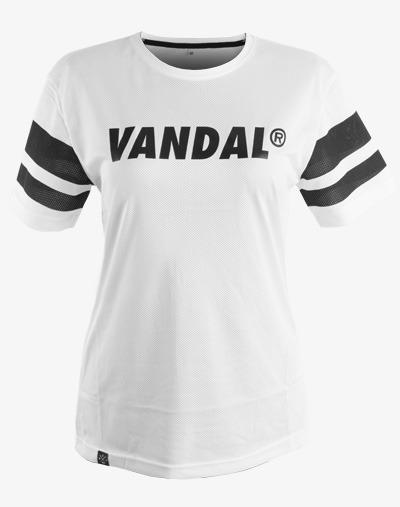 Vandal Team Jersey für Frauen/Damen in Weiß mit großem Vandal Team Print