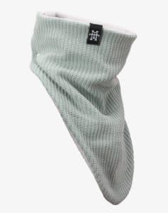 Knit_WindbreakerKnit Windbreaker Strickstoff Schal Halswärmer_OLDGREEN-SIDE-R-507px
