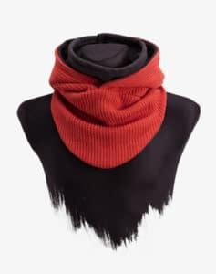 Knit Hooded Loop Kapuzenschal Schal Kapuze Kombination Strick