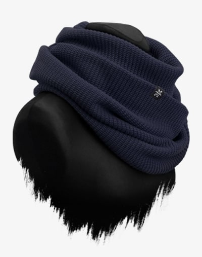 Knit Loop Navy Strickschal Schal Wickelschal