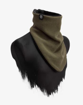 Knit Windbreaker Olive Schal