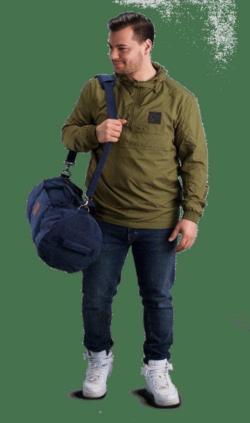 Canvas Duffel Bag Navy blau baumwolle 24L