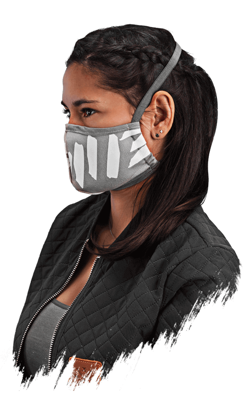 M13 Facemask Gesichtsmaske Behelfsmaske Mund und Nase Maske grau asphalt hellgrau