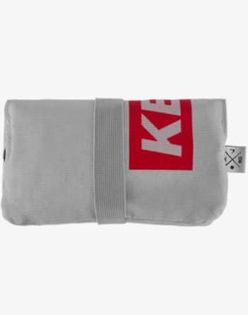 Tabaktasche Dreherbeutel Drehbeutel aus Stoff 100% Baumwolle Canvas Keta Ketamine red rot Box Logo grau grey gray