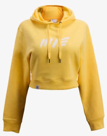 crop hoodie Cropped Hoodie Damen bauchfrei kurz crop cut mustard yellow senfgelb gelb