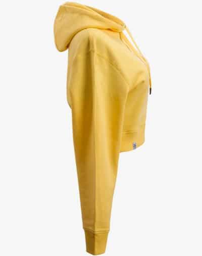 crop hoodie Cropped Hoodie Damen bauchfrei kurz crop cut mustard yellow senfgelb gelb