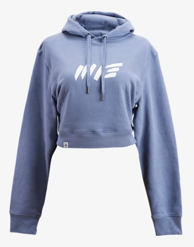 crop hoodie Cropped Hoodie Damen bauchfrei kurz crop cut purple blue blue blau lila