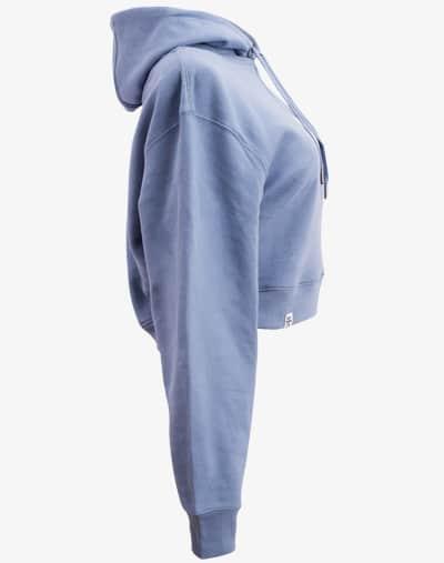 crop hoodie Cropped Hoodie Damen bauchfrei kurz crop cut purple blue blau lila