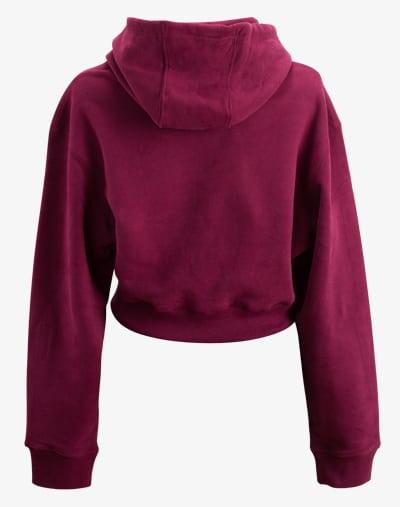 crop hoodie Cropped Hoodie Damen bauchfrei kurz crop cut vino weinrot rot red