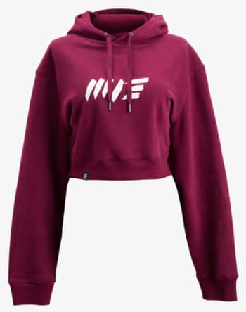 crop hoodie Cropped Hoodie Damen bauchfrei kurz crop cut vino weinrot rot red
