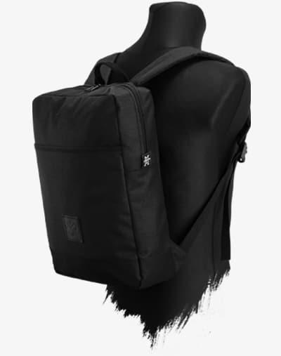 Urban Explorer DayPack Backpack Rucksack 11L black out schwarz wasserabweisend wasserdicht Leder gepolstert Geheimfach