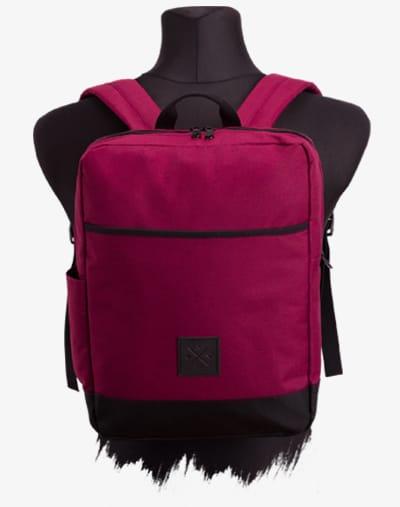 Urban Explorer DayPack Backpack Rucksack 11L Vino weinrot rot wasserabweisend wasserdicht Leder gepolstert Geheimfach